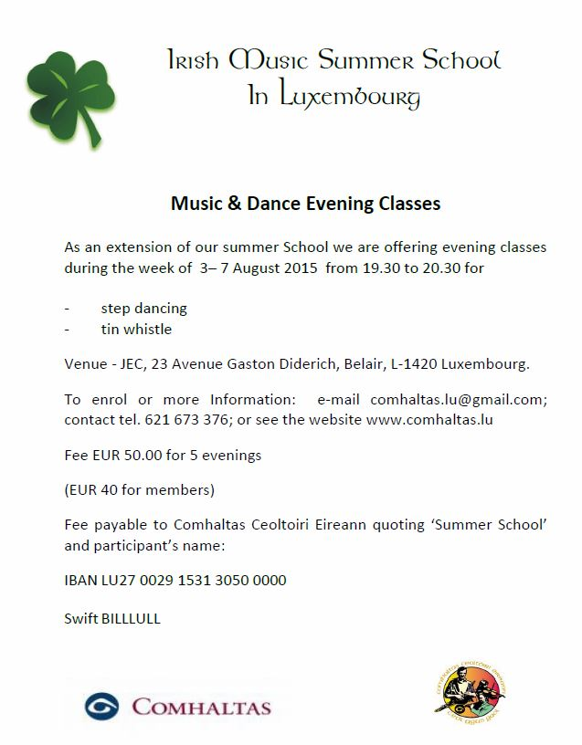 Irish evening class