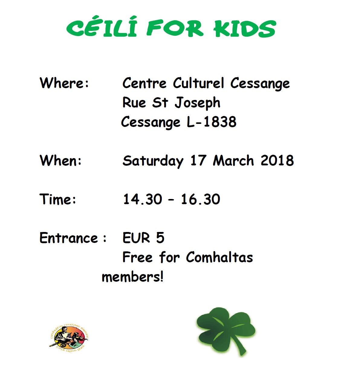 2018 03 17 Ceili for kids